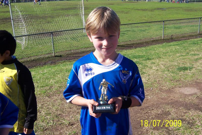 Darcy Pullen Player of the week 18/07/09