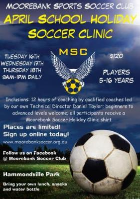 April school holiday soccer clinic